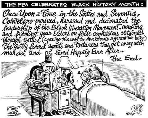 Cartoon: FBI celebrates Black History month