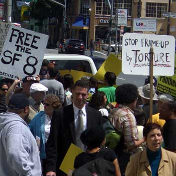 Demonstrators in San Francisco say Stop the Frameup